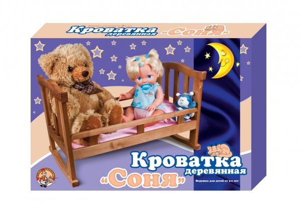 """Кроватка деревянная """"Соня"""" 56 см"""