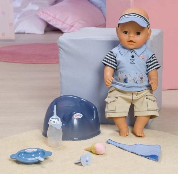 "Кукла-мальчик BABY born ""Покорми меня"""