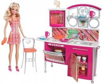 Barbie. Набор Накрываем на стол (кукла+кухня )