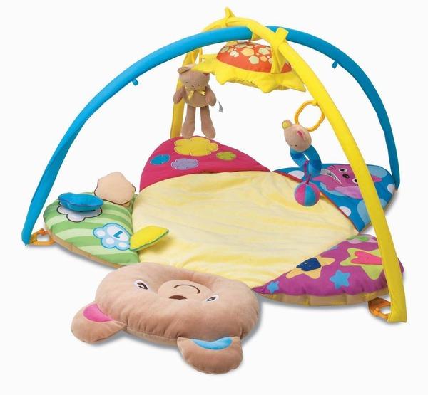 """Ковер Play N'FUN для малышей """"Мишка"""" 3 игрушки"""