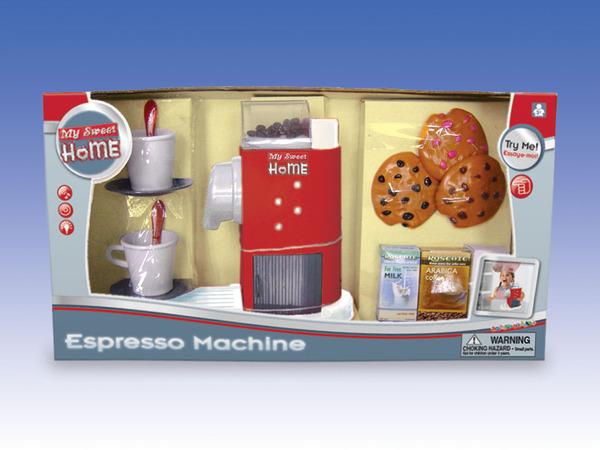 """Набор игровой """"Кофе-машина"""" с аксессуарами. эл/мех. со световыми и звуковыми эффектами. пласт."""