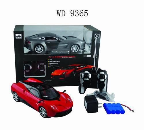 Машина р/у 1:16. с аккумуляторной батареей и зарядным устройством.2 вида. пластмасса