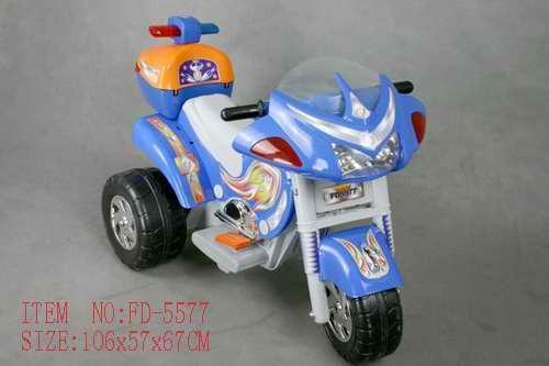Мотоцикл с аккумулятором 3-х колесный синий 106х57х67см (Китай)