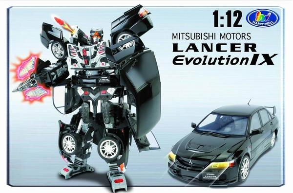 Робот-трансформер Mitsubishi Lancer Evolution IX. 1:12
