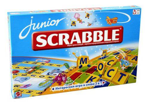 "Игра SCRABBLE Junior. Скрэббл ""Джуниор"".  русская версия"
