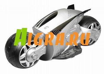 Мотоцикл р/у Cyber cycle (серебряный). управление переднего и заднего колес независимо друг от друга