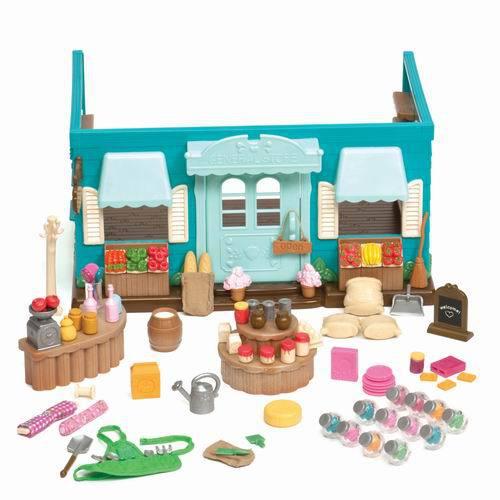 Li'l Woodzeez. Магазин долины Ханисакл в наборе с аксессуарами. 90 предметов. пластмасса